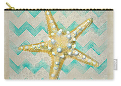 Starfish In Modern Waves Carry-all Pouch