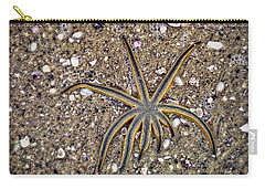 Starfish On The Beach Carry-all Pouch by Robert FERD Frank