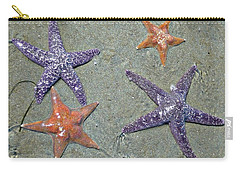 Carry-all Pouch featuring the photograph Starfish Party by 'REA' Gallery