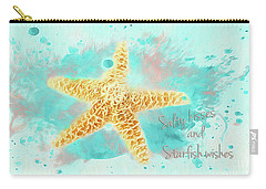 Carry-all Pouch featuring the photograph Starfish Wishes by Darren Fisher