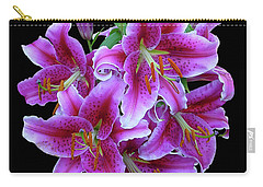 Stargazer Lily Cutout Carry-all Pouch