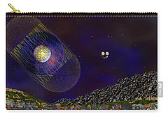 Carry-all Pouch featuring the digital art Stargeist Contact by Iowan Stone-Flowers
