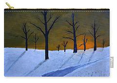 Stark Winter Sunset Carry-all Pouch