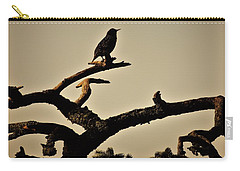 Carry-all Pouch featuring the photograph Starling by Karen Horn