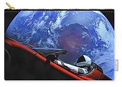 Starman In Tesla With Planet Earth Carry-all Pouch