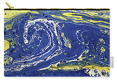 Carry-all Pouch featuring the painting Starry Night Abstract by Menega Sabidussi