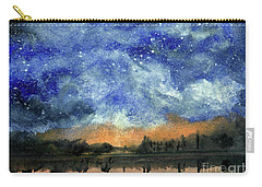 Starry Night Across Our Lake Carry-all Pouch by Randy Sprout