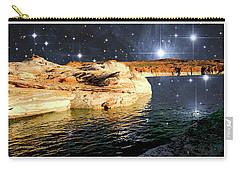 Starry Night Fantasy, Lake Powell, Arizona Carry-all Pouch by A Gurmankin NASA STSci