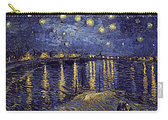 Carry-all Pouch featuring the painting Starry Night Over The Rhone by Van Gogh
