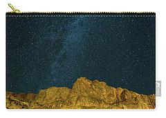 Starry Night Sky Over Rocky Landscape Carry-all Pouch