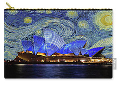 Starry Night Sydney Opera House Carry-all Pouch by Movie Poster Prints