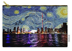Carry-all Pouch featuring the painting Starry Night Toronto Canada by Movie Poster Prints