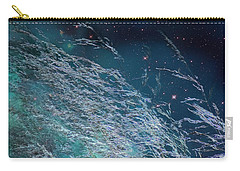 Carry-all Pouch featuring the photograph Starry Sky Grass by Yulia Kazansky