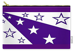 'stars 21' Or 'purple Stars' Carry-all Pouch by Linda Velasquez