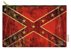 Stars And Bars Confederate Flag Carry-all Pouch by Randy Steele