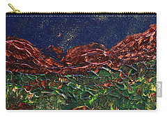 Stars Falling On Copper Moon Carry-all Pouch by Donna Blackhall