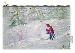 Carry-all Pouch featuring the painting Start Of Something Big by Judith Rhue
