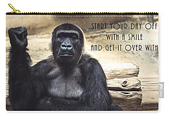 Carry-all Pouch featuring the digital art Start Your Day Off With A Smile by Anthony Murphy