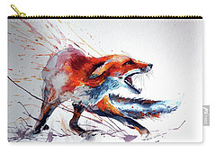 Startled Red Fox Carry-all Pouch