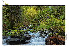 Starvation Creek And Falls Carry-all Pouch by Ryan Manuel