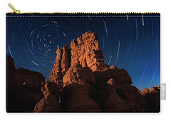 Carry-all Pouch featuring the photograph Stary Trails At Red Canyon by Edgars Erglis