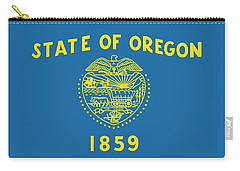 State Flag Of Oregon Carry-all Pouch by American School