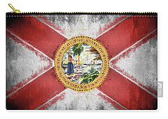 State Of Florida Flag Carry-all Pouch by JC Findley