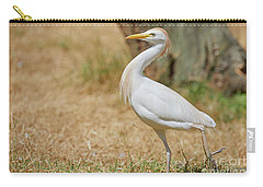 Stately Walking Cattle Egret Carry-all Pouch