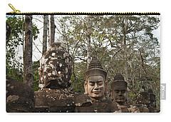 Statue Heads Ankor Thom Carry-all Pouch