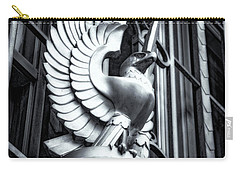Statue In Monochrome Hdr Carry-all Pouch by Michael White