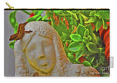 Statue Lizard  Carry-all Pouch