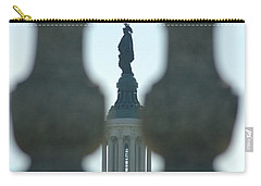 Statue Of Freedom Through Railing Carry-all Pouch