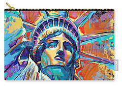 Statue Of Liberty New York Art Usa Carry-all Pouch