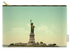 Statue Of Liberty, New York Harbor Carry-all Pouch by Unknown
