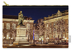 Carry-all Pouch featuring the photograph Statue Of William Of Orange - The Hague by Barry O Carroll