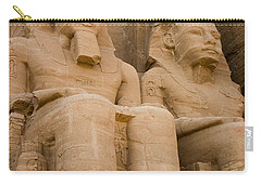 Statues At Abu Simbel Carry-all Pouch by Darcy Michaelchuk