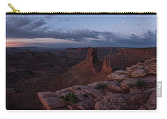 Statues In The Desert Carry-all Pouch by Dustin LeFevre