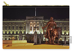 Carry-all Pouch featuring the photograph Statues View Of Buckingham Palace by Terri Waters