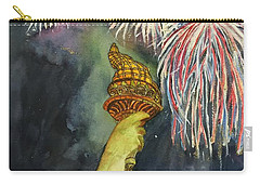 Statute Of Liberty Carry-all Pouch by Lucia Grilletto