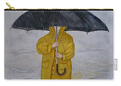 Carry-all Pouch featuring the painting Under Daddy's Umbrella by Kelly Mills