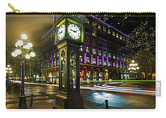 Steam Clock In Gastown Vancouver Bc At Night Carry-all Pouch
