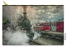 Carry-all Pouch featuring the photograph Steam Engine by Hanny Heim