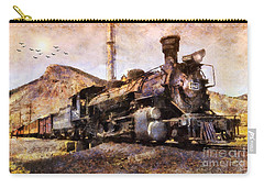 Carry-all Pouch featuring the digital art Steam Locomotive by Ian Mitchell
