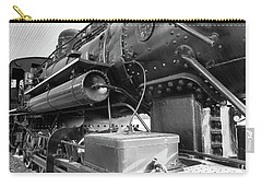 Carry-all Pouch featuring the photograph Steam Locomotive Side View by Doug Camara