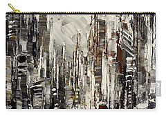 Carry-all Pouch featuring the painting Steam Over Gotham by Tatiana Iliina