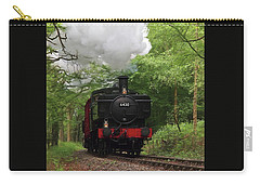 Steam Train Approaching In The Forest Carry-all Pouch by Gill Billington