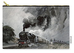 Steam Train At Garsdale - Cumbria Carry-all Pouch by John Cooke