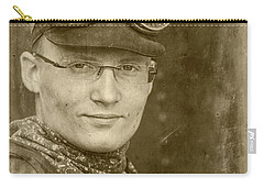Carry-all Pouch featuring the photograph Steam Train Series No 39 by Clare Bambers