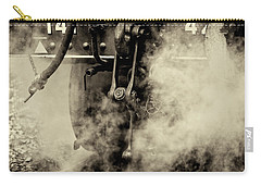 Carry-all Pouch featuring the photograph Steam Train Series No 4 by Clare Bambers