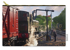 Steam Train Taking On Water Carry-all Pouch by Gill Billington